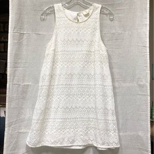 Urban Outfitters Sheer Lace Ivory Mini Dress Med